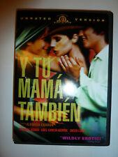 Y Tu Mama Tambien Dvd acclaimed drama movie Alfonso Cuaron Unrated Version!