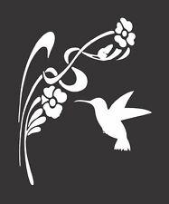 Hummingbird Flowers 143 - Die Cut Vinyl Window Decal/Sticker for Car/Truck