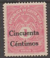 Costa Rica Archives Revenue Fiscal stamp- 11-23-20