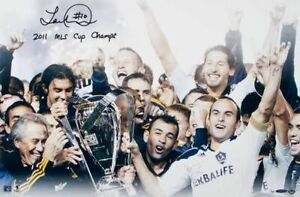 Landon Donovan Hand Signed Autographed 16x24 Galaxy 2011 MLS Cup Champs UDA /50