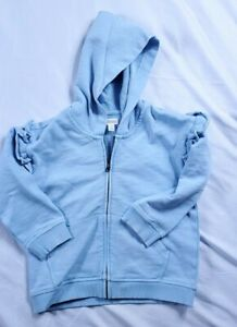 Gymboree Girls Blue Full Zip Up Hoodie Size 3T New With Tags