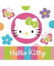 Hello Kitty Flower Dessert Beverage Napkins 16 Count Birthday Party Supplies New