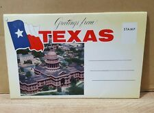 Vintage Fold Out Postcard ~ Texas ~ 1960's