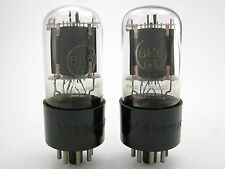 Visseaux 6K6GT vacuum tubes, Matched pair (2), AT1000 tested, Made in France