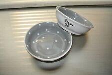 New listing Spectrum Designz ceramic cat food bowl! 'Happy Cat' Lot of 2!