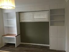 Silverwater Build in TV Entertainment Wall Unit Storage Cabinet