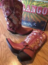 Durango Crush Brown Cowgirl Western Boots DCRD014 Women's 8.5 Pink Flowered
