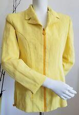 VERSACE Jeans Couture front zip Blazer Jacket Yellow Women's size US 4  28/42