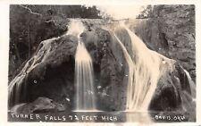 Davis Oklahoma~Turner Falls  Close Up~72 Ft High~1940s Real Photo Postcard~RPPC