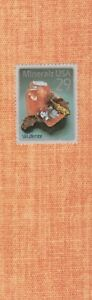 Wulfenite - US Postage on decorative paper,  laminated bookmark