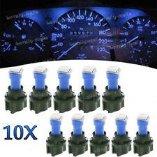 10x T5 PC74 Twist Socket Instrument Cluster 10K Blue Dashboard Led Light Bulbs
