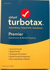Intuit TurboTax Premier 2018 Federal e-File State Investments & Rental Sealed