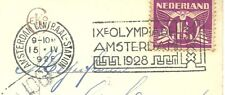 "AK  met Machine-ST: A'dam-CS  ""9e. Olympiade Amsterdam 1928"" /16-4-1928"