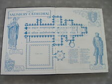 The Glories of Salisbury Cathedral by Jeffrey Truby 1948 Illustrated