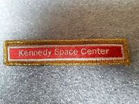"AUTHENTIC VINTAGE ""Kennedy Space Center"" NASA SPACE PATCH 4 1/8"" L x 7/8"" W"