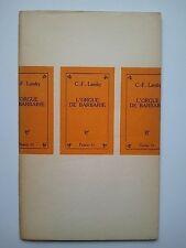 "C.- F. LANDRY "" L'orgue de barbarie"" Editions Pierre Seghers, 1951"