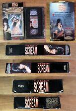 VHS: The Silent Scream: Thriller Video: Elvira big box horror