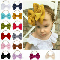 Hot Big Bow Baby Girls Headbands Bow Soft Headbands Elastic Knotted Hair Band