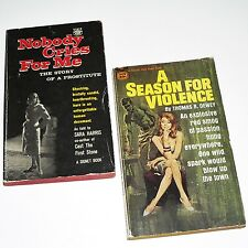 NOBODY CRIES FOR ME & A SEASON FOR VIOLENCE - 2 x Cult Pulp P/B's 1960's Sleaze
