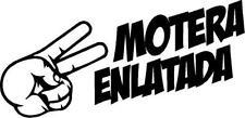 Pegatina de  motera enlatada Vinilo adhesivo  Pegatina Sticker coche moto casco