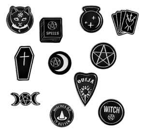 Spooky Enamel Pin Badges Gothic Emo Pagan Wiccan Pentacle Halloween Horror Gift
