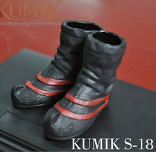 1/6 Kumik S-18 Black Leather Shoes Boots F 12'' Figure Body Toys Accessories