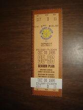 Ticket Stub Nba Warriors Vs Detriot 12/8/95 Full Unused Ticket