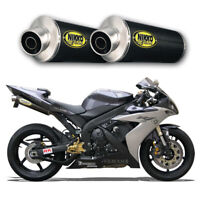 Echappement Paire de Silencieux Carbone Racing Yamaha R1 2006 Slip-On Exhaust