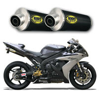 Echappement Paire de Silencieux Carbone Racing Yamaha R1 2005 Slip-On Exhaust