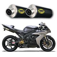 Echappement Paire de Silencieux Carbone Racing Yamaha R1 2004 Slip-On Exhaust