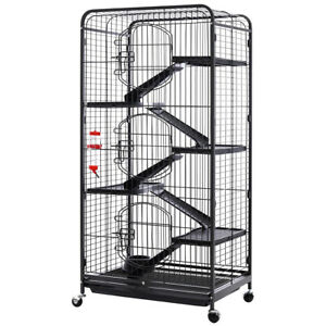 Moving Large Metal Pet Cage Guinea Pig Rodent Chinchilla Hutch Animal House Home