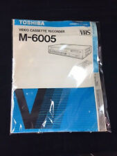 OWNER'S MANUAL TOSHIBA VHS VIDEO CASSETTE RECORDER M-6005