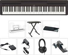 Yamaha P45 B Digital Piano SET mit Sitz Bank Kopfhörer Hülle Sustain Pedal NT