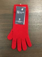 Women's Long Cashmere Gloves | Johnstons of Elgin | Made in Scotland | Red