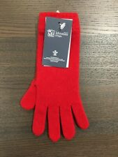 Women's Long Cashmere Gloves   Johnstons of Elgin   Made in Scotland   Red