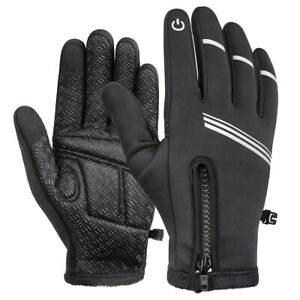 Fahrrad Sport Leder Handschuhe Winter Warm Arbeitshandschuhe Montagehandschuhe