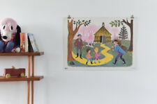 Vintage 1965 Fernand Nathan French School Poster Print Nursery Decor Forest
