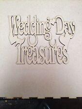 Día de boda tesoros Topper 200x 200 mm Corte Láser De Madera Mdf