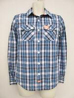 Superdry - Mens / Boys Blue Mix Long Sleeved Lined Washbasket Shirt - XS / S