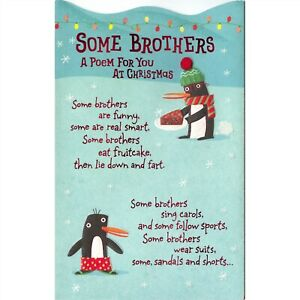 American Greetings Christmas Card: Some Brothers Are Funny...Some Are Real Smart
