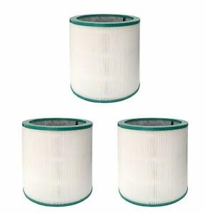 HEPA Vacuum Filter Compatible w/ Dyson Pure Cool Link TP02 968126-03, 3 Filters