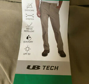 36x30 Nylon-Stretch Straight Fit Khaki Comfort-Cargo thigh-zip Pants UB Tech