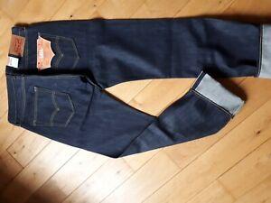 Levi's 501 W32 L34 Selvedge raw  denim rockabilly