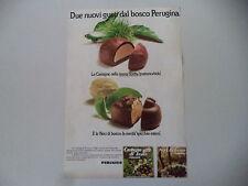 advertising Pubblicità 1974 PERUGINA CASTAGNE/NOCI DI BOSCO