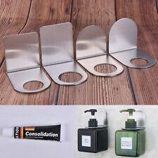 304 Stainless Steel Wall Mount Soap Shower Gel Dispenser Bottle Holder HookS.ZY
