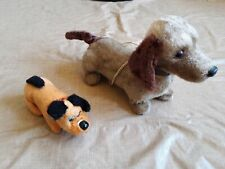 Vintage Flocked Dachshund Dog Wind Up Battery Operated Japan Rvt Toy Lot