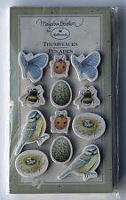 Marjolein Bastin Hallmark Cards Thumbtacks Nip birds, ladybugs, butterflies