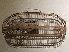 """New listing Antique Large Metal Wire Cage Rat Mouse Live Trap Primitive 17"""""""