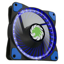 Game Max Vortex Blue Ring and 32 LED's, 12cm 120mm PC Cooling Case Fan, 9 Blades