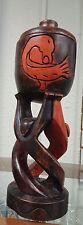 African Art Ghana Sankofa Bird Sculpture Circle Of Life Stand Unity Cup/Kwanzaa